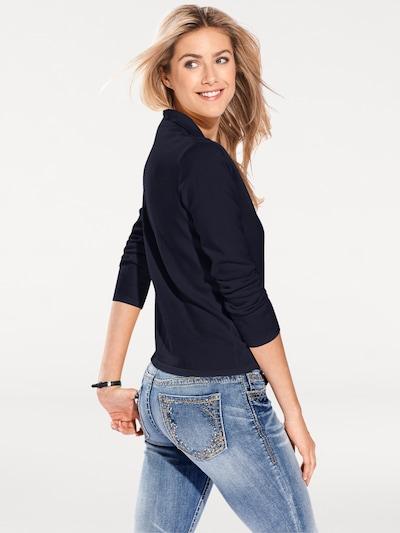 heine Polo-Pullover in blau, Produktansicht