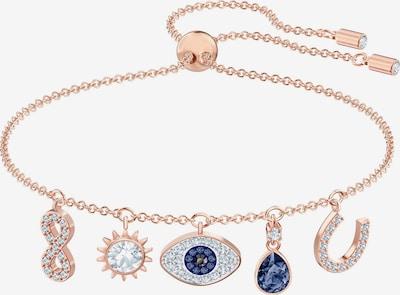 Swarovski Armband in blau / gold / transparent, Produktansicht
