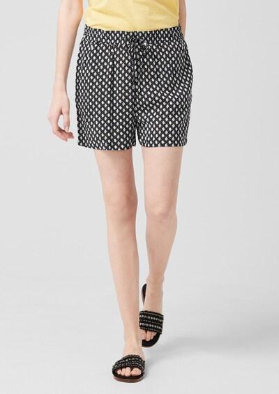 s.Oliver Shorts in schwarz / weiß, Modelansicht