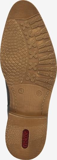 RIEKER Schnürschuh in schwarz: Ansicht von unten