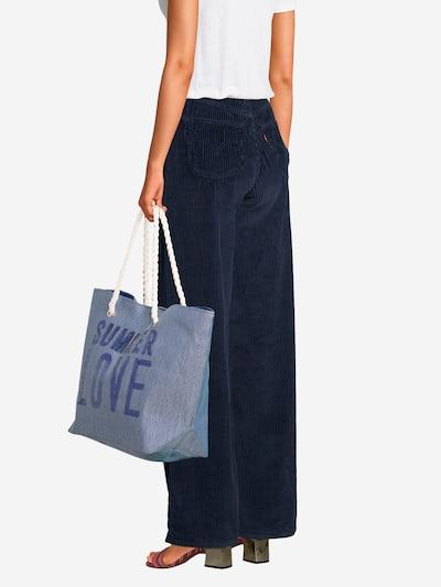 Dorothy Perkins Strandtas in de kleur Blauw, Modelweergave
