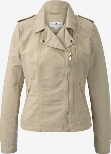 TOM TAILOR Jacken & Jackets Bikerjacke in beige, Produktansicht