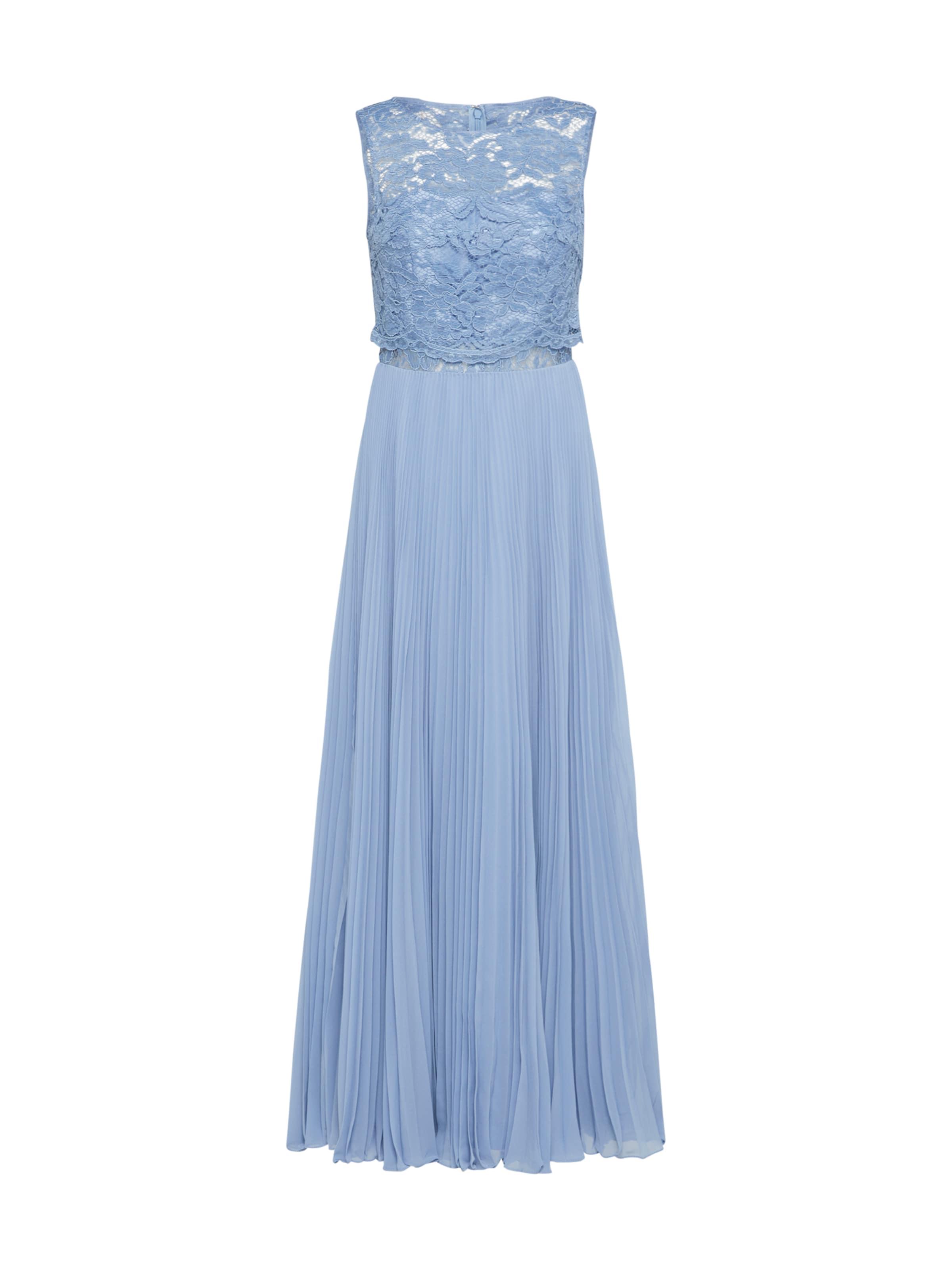 Abendkleid Violettblau Laona Mit Spitzentop In XZOiukTP