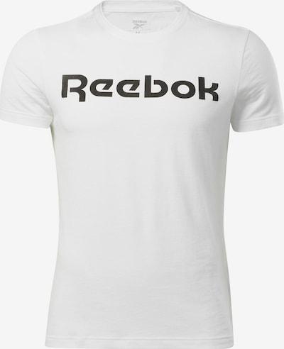 REEBOK Toiminnallinen paita värissä musta / valkoinen, Tuotenäkymä