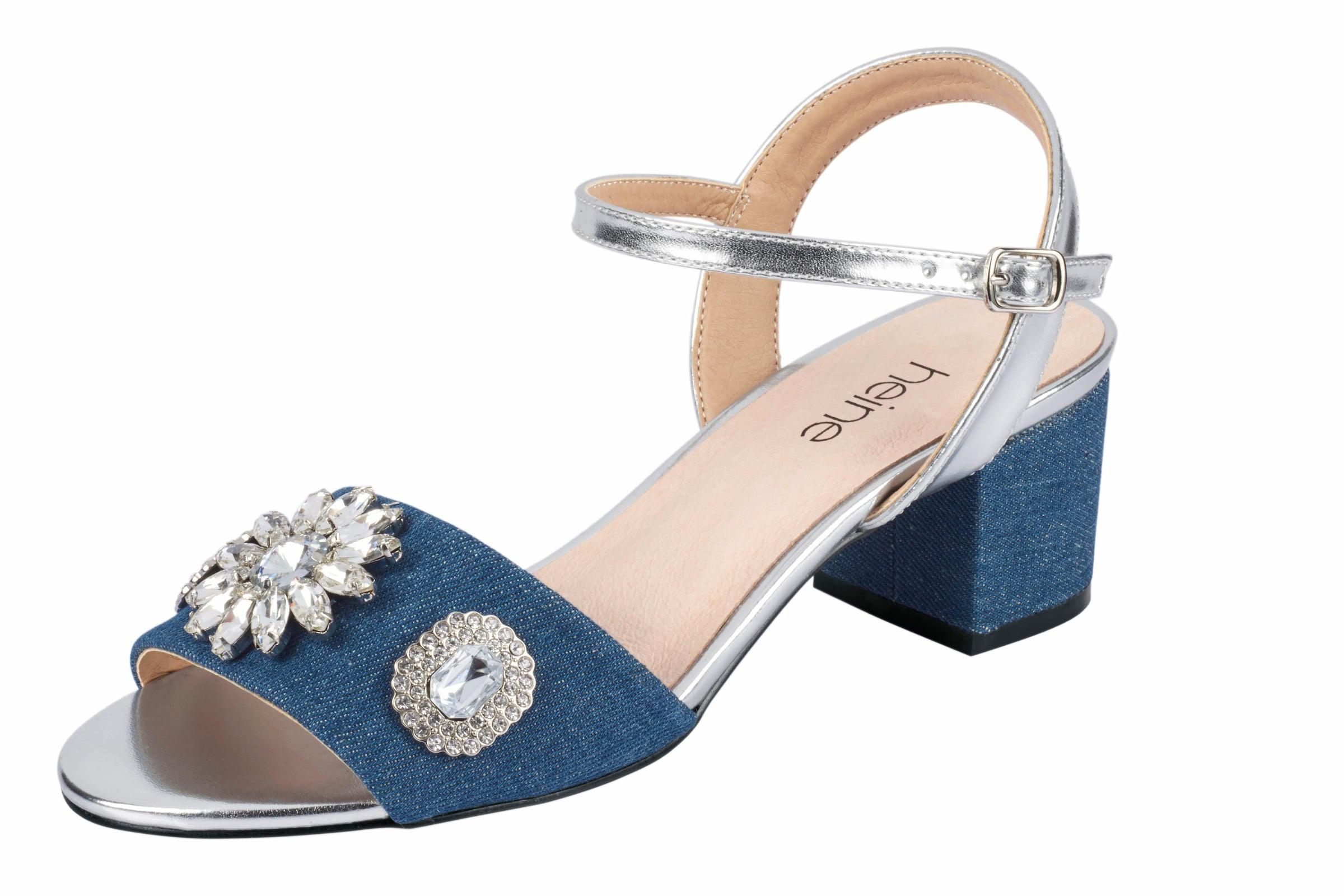 Haltbare Mode billige Schuhe heine   Sandalette mit Schmucksteinen Schuhe Gut getragene Schuhe