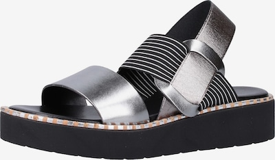 Rapisardi Sandale in silbergrau / schwarz / silber, Produktansicht
