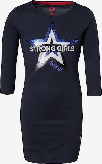 WE Fashion Sweatkleid in blau / nachtblau / schwarz / weiß, Produktansicht