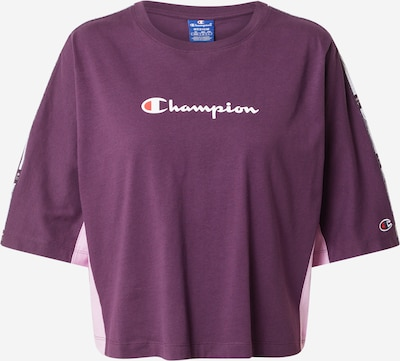 Champion Authentic Athletic Apparel Shirt in de kleur Lichtlila / Donkerlila / Wit, Productweergave