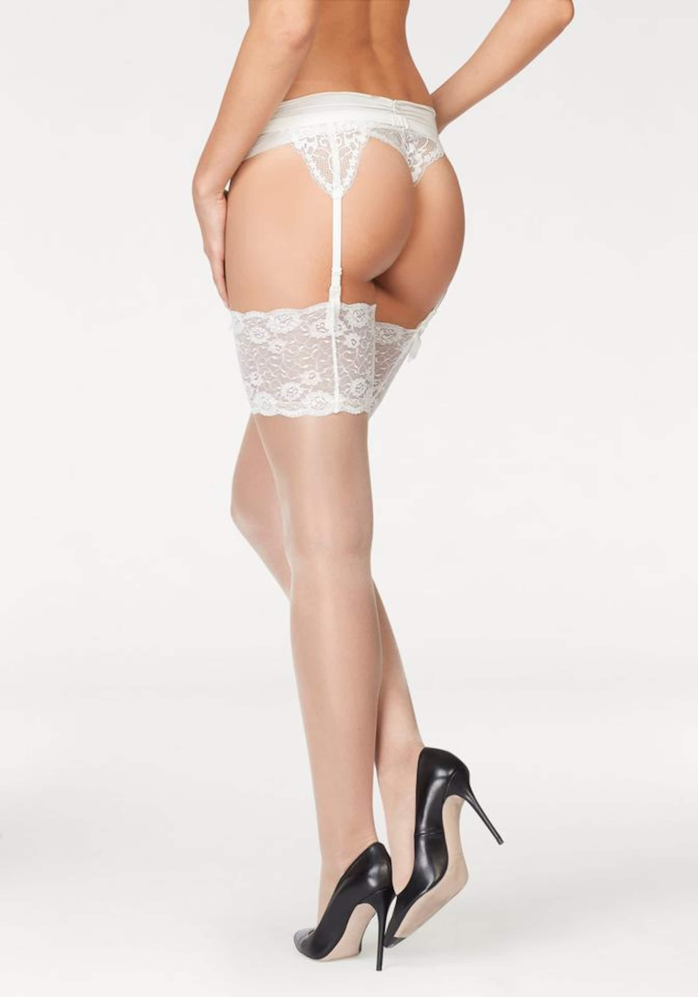 LASCANA Stay-up med höfthållare '20DEN' i kräm