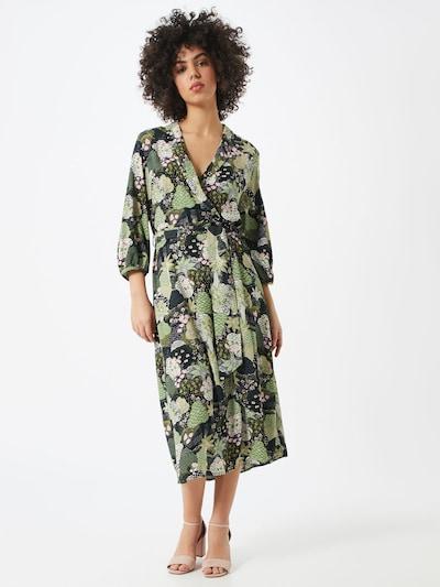 SELECTED FEMME Kleid in grün / offwhite, Modelansicht