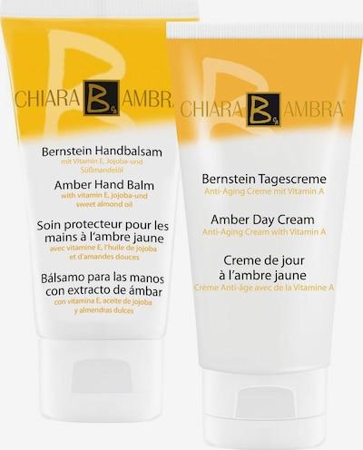 CHIARA AMBRA Pflegeset 'Bernstein' in gelb / weiß, Produktansicht