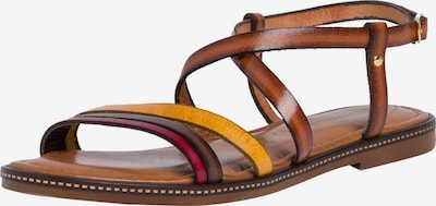 TAMARIS Remienkové sandále - koňaková / žltá / ružová, Produkt