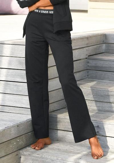 Pantaloni s.Oliver pe negru: Privire frontală
