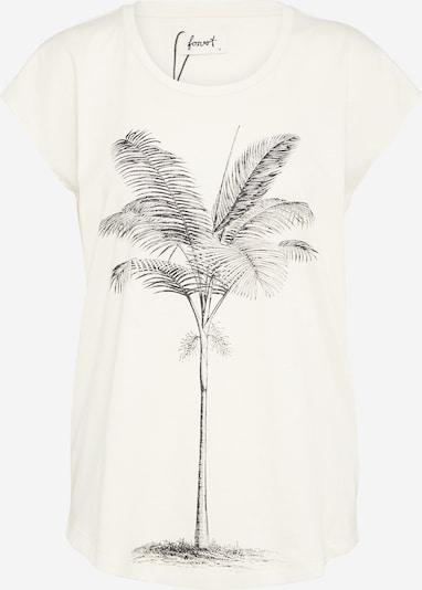 Forvert T-shirt 'Irma' en anthracite / blanc naturel, Vue avec produit