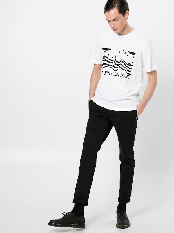 shirt Calvin T amp;stripes ' 'stars NoirBlanc Jeans En Klein Instit gYb7vf6y