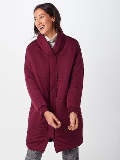 Native Youth Zimní kabát 'NUBLU PUFFER JACKET' - burgundská červeň: Pohled zepředu
