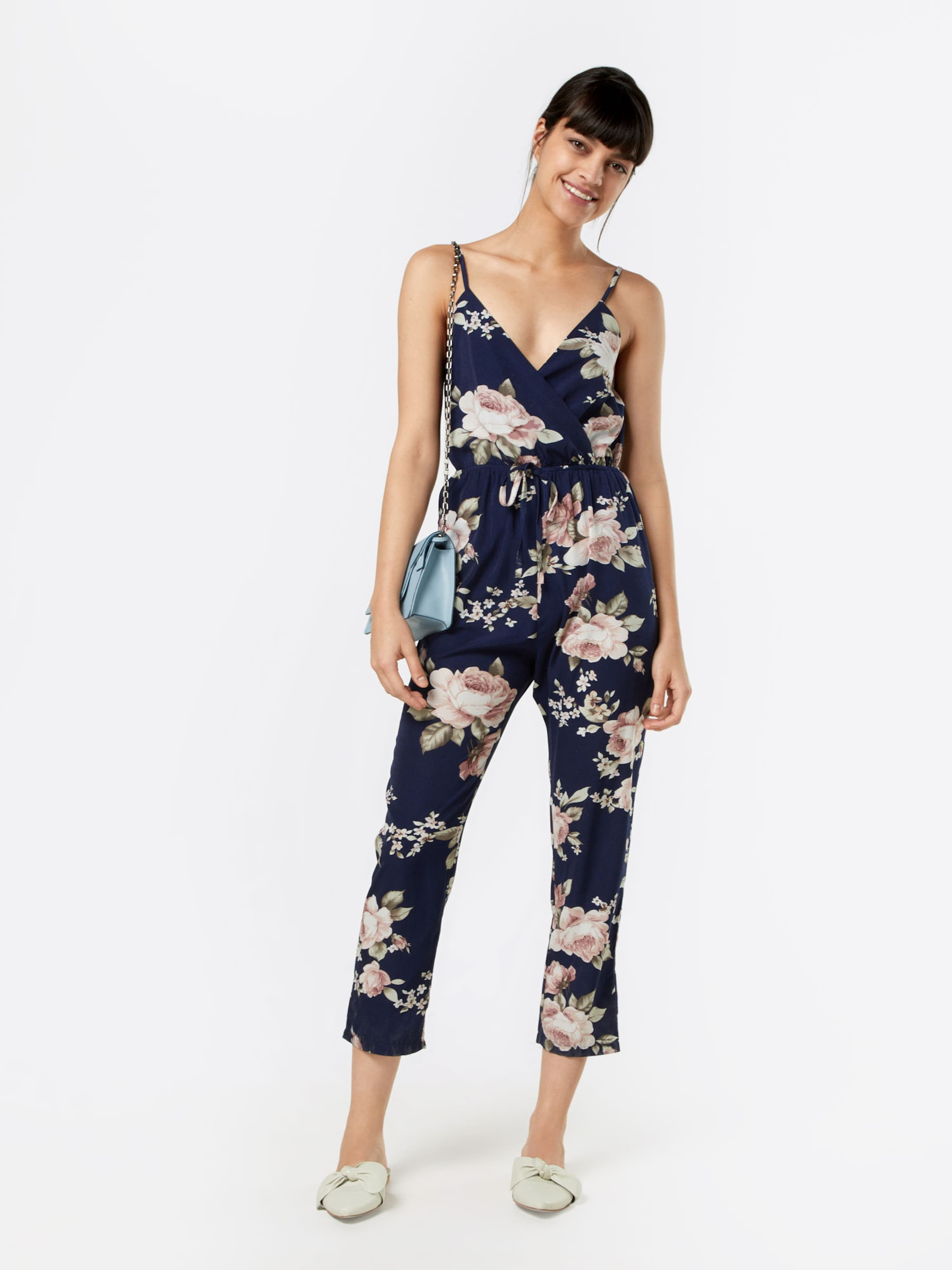 Free Shipping Mela London Jumpsuit Floral In Navy Rosa
