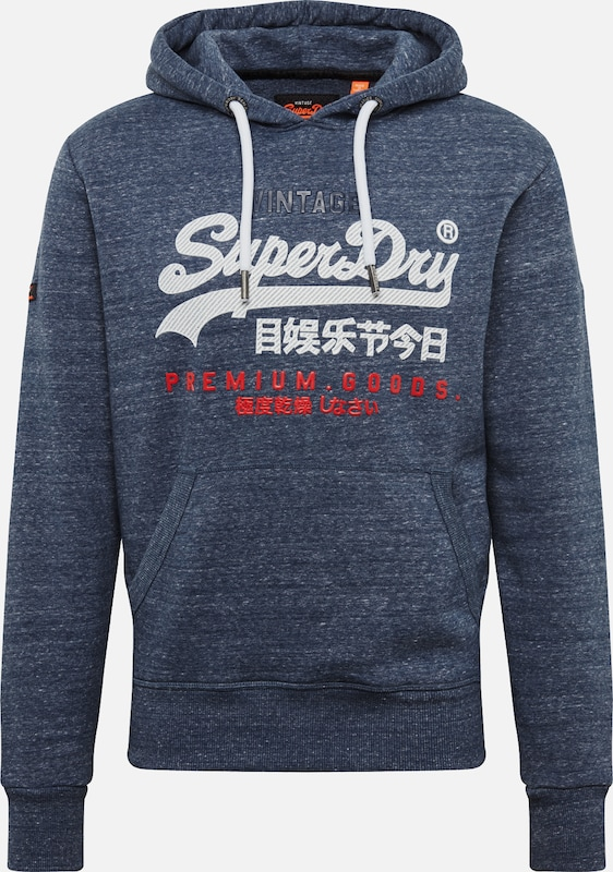 Superdry Sweat MarineRouge En Bleu shirt Blanc doBxCe