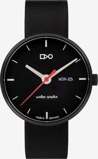 WALTER GROPIUS Uhr in hellrot / schwarz / weiß, Produktansicht