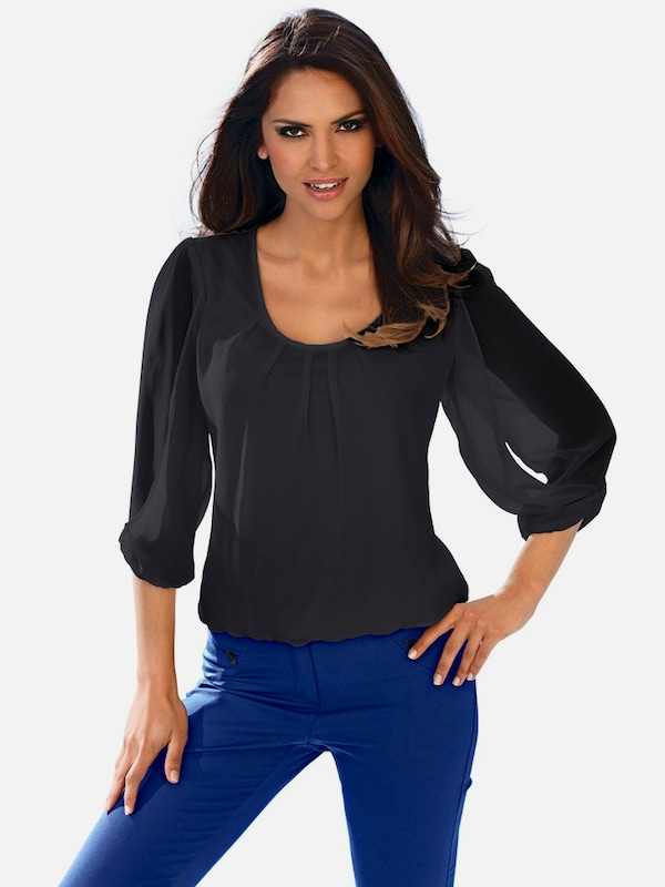 Ashley Brooke Par Heine Chiffonbluse