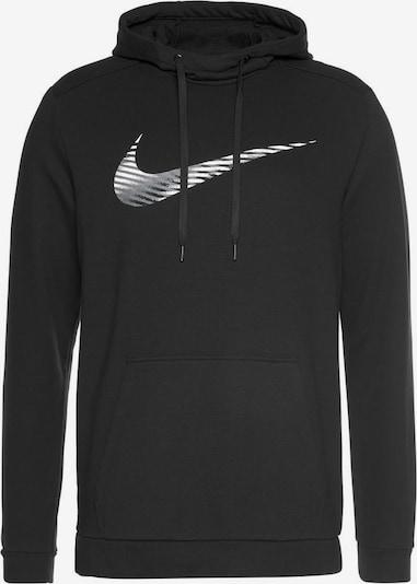 NIKE Sportsweatshirt in de kleur Zwart / Wit, Productweergave