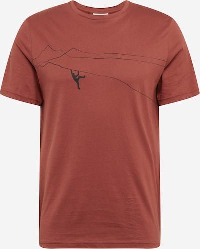 ARMEDANGELS Majica 'JAAMES' | temno rdeča / črna barva, Prikaz izdelka