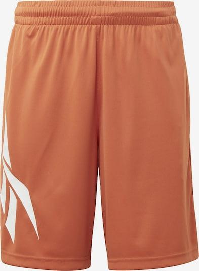 Reebok Classic Reebok Shorts in hellorange / weiß, Produktansicht