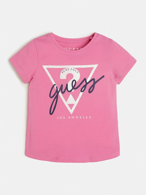 GUESS KIDS Shirt in pink: Frontalansicht