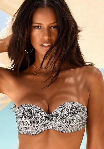LASCANA Bikini Top in Black