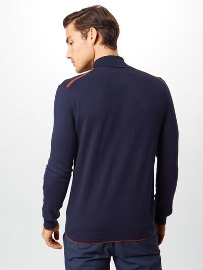 BURTON MENSWEAR LONDON Sweter 'knit polo' w kolorze granatowym: Widok od tyłu