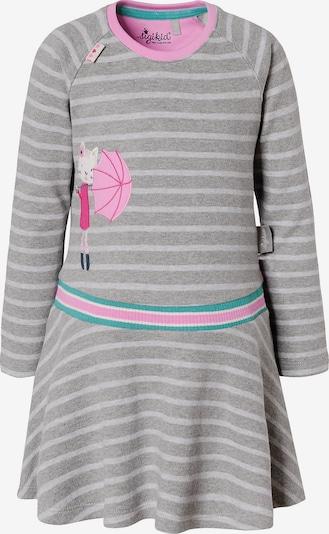 SIGIKID Kleid in grau / graumeliert / smaragd / pink, Produktansicht