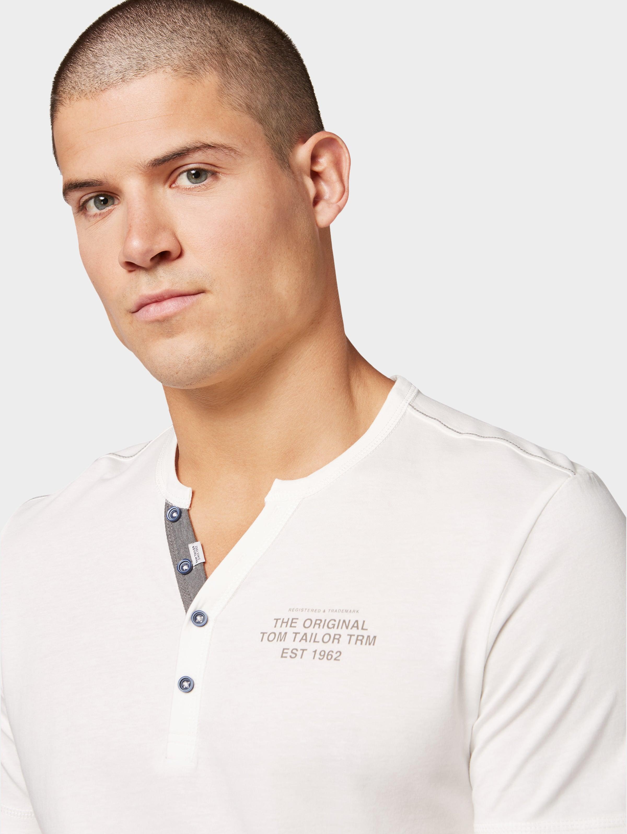 shirt In T Offwhite Tailor Tom n0m8wvN