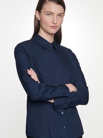 SEIDENSTICKER Bluse 'Schwarze Rose' in Blau