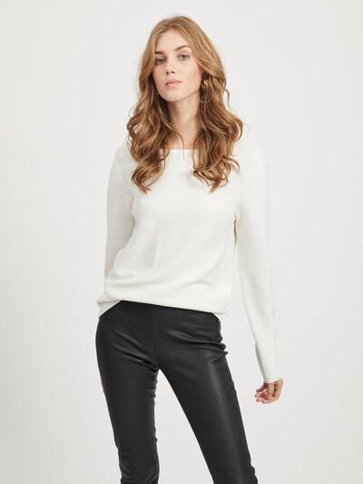 VILA Trui in de kleur Wit: Vooraanzicht