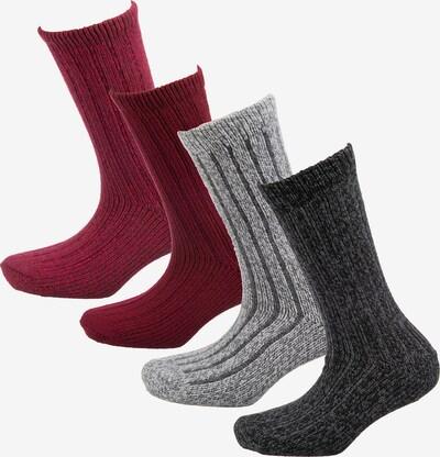 s.Oliver 4er-Pack Unisex Socken 'hygge' in rot, Produktansicht