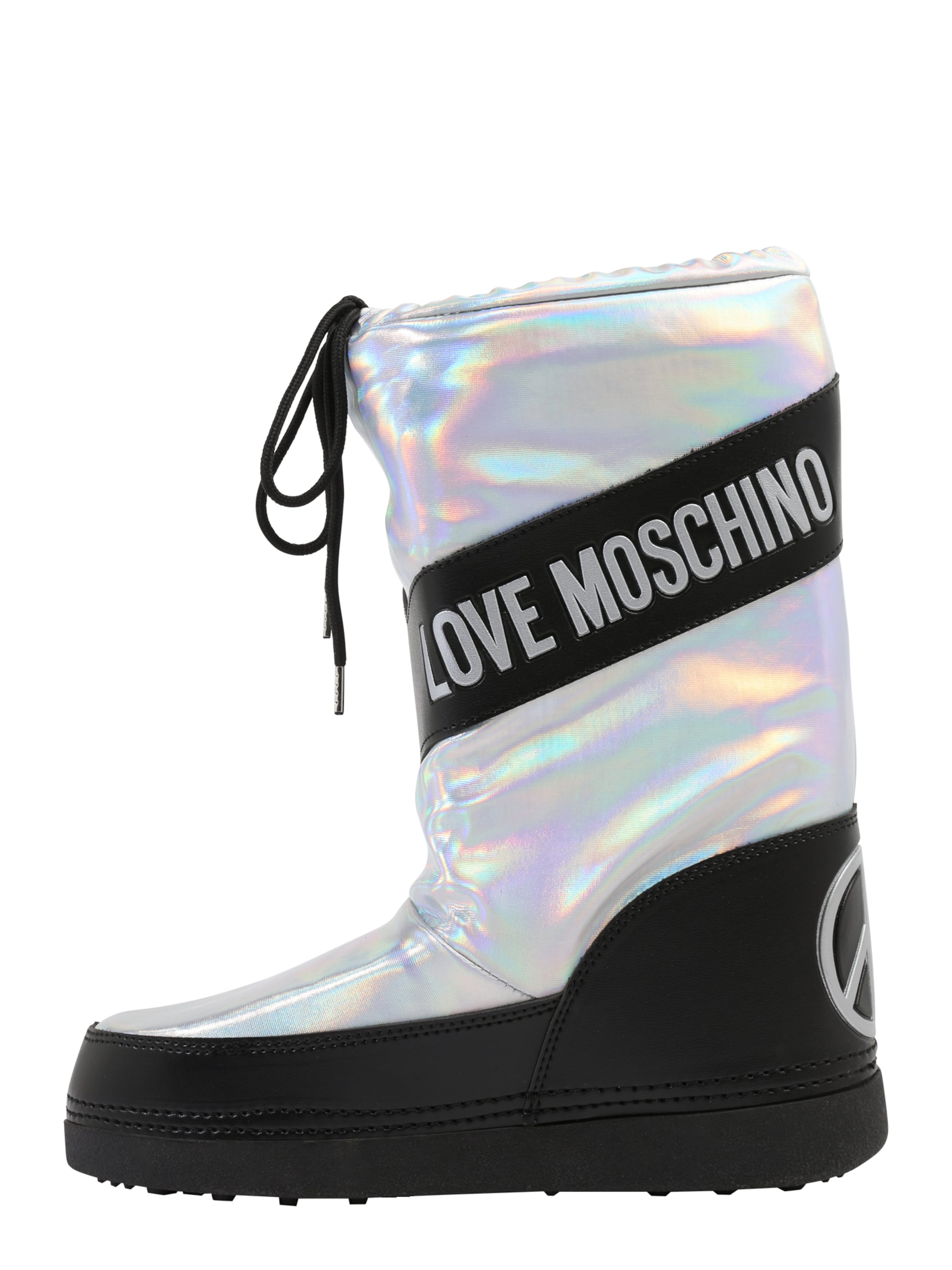 Love Après Moschino ski Boot' NoirArgent 'ski En f76vIYbgy