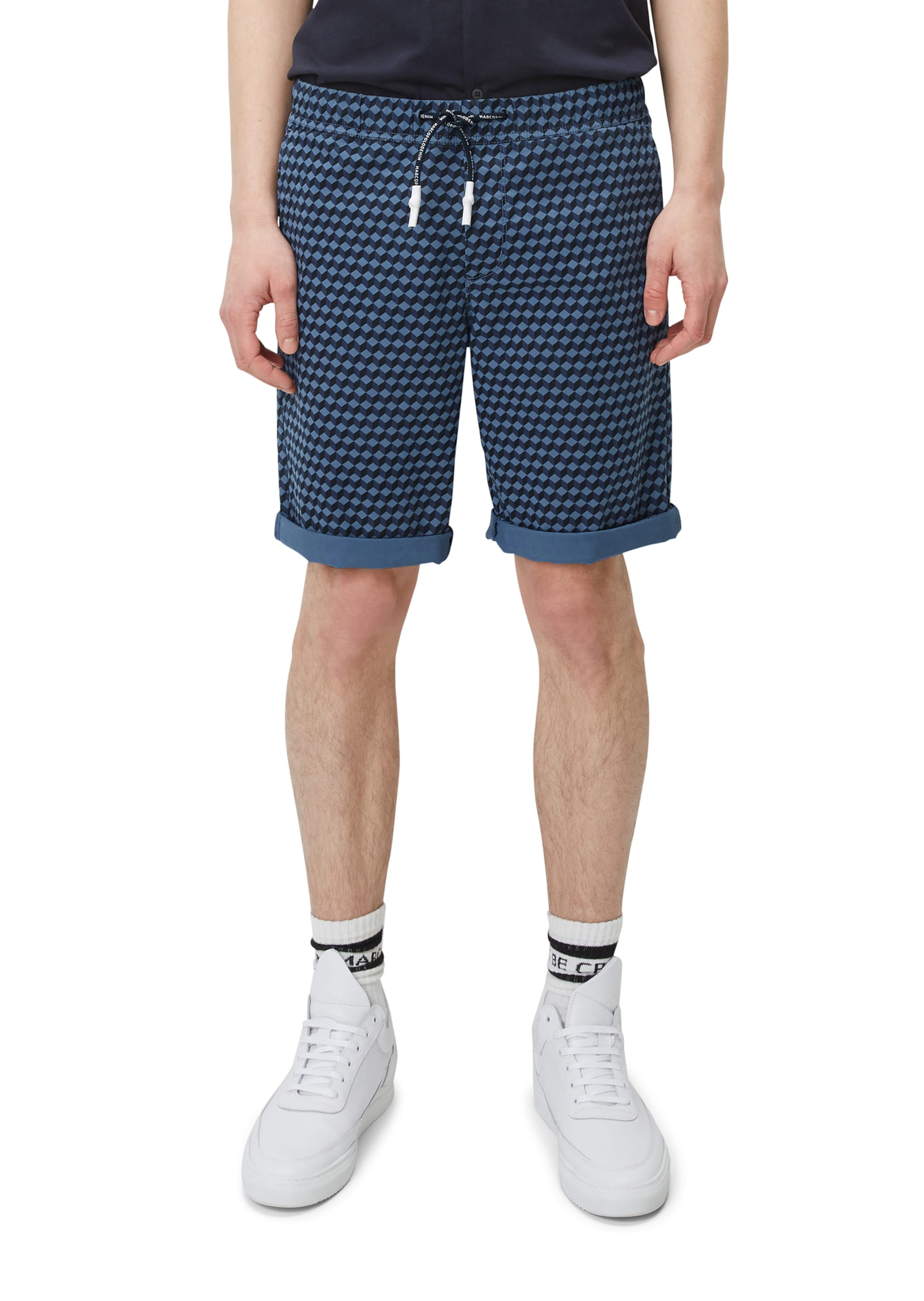 shorts Chino Marc Denim O'polo Mik Regular In BlauNachtblau TFlK1Jc