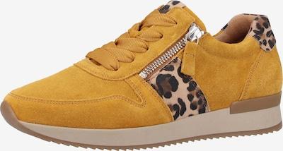 GABOR Sneakers laag in de kleur Bruin / Lichtbruin / Sinaasappel: Vooraanzicht