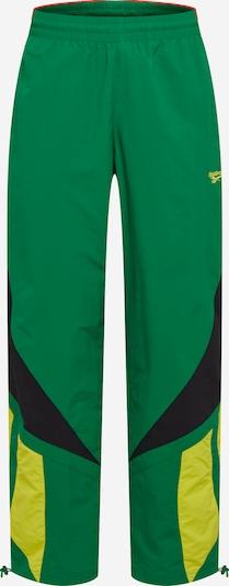 Pantaloni Reebok Classic pe galben / culori de noroi / verde, Vizualizare produs