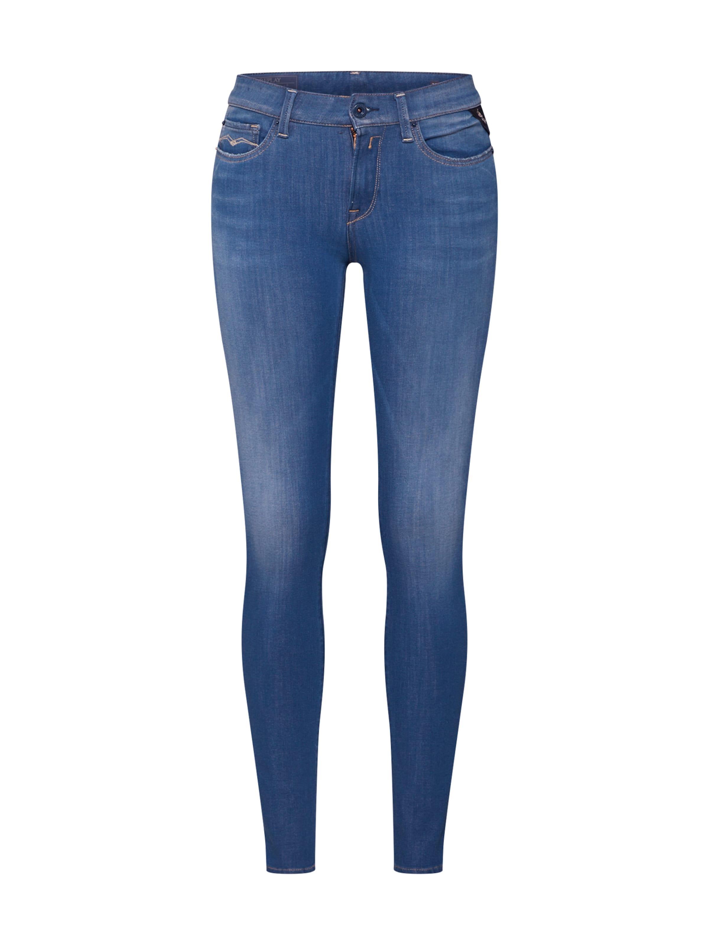 Replay High In Waist' Jeans 'luz Denim Blue dorxBWeC