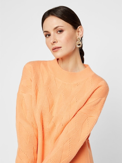 Y.A.S Pullover in pastellorange: Frontalansicht