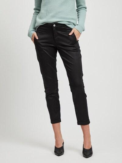 VILA Chinohose 'VICHINO RWRE 7/8 NEW PANT' in schwarz, Modelansicht