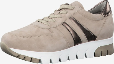 TAMARIS Sneaker in beige / schwarz: Frontalansicht