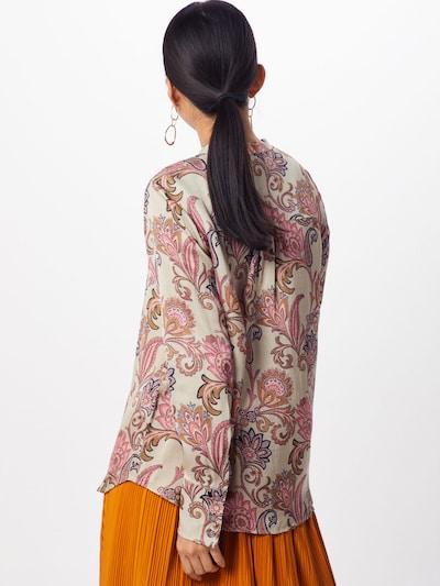Palaidinė 'Damia Weave Shirt' iš MOS MOSH , spalva - smėlio / mišrios spalvos / rožinė: Vaizdas iš galinės pusės