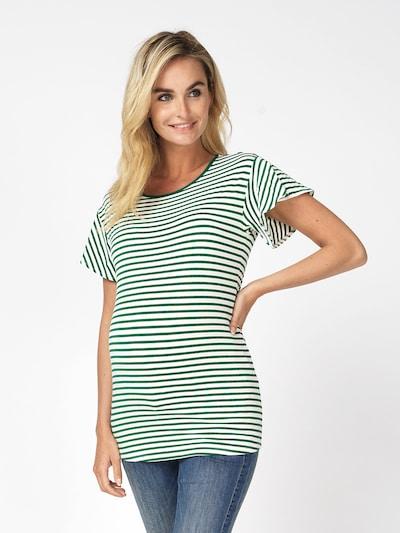 Noppies T-shirt 'Olivia' en vert foncé / blanc: Vue de face