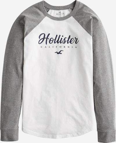 HOLLISTER Tričko - šedý melír / bílá, Produkt