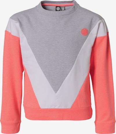 TUMBLE N' DRY Sweatshirt 'Senya' in hellgrau / lachs / weiß, Produktansicht