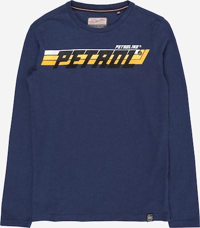 Petrol Industries T-Shirt in dunkelblau / gelb / schwarz, Produktansicht