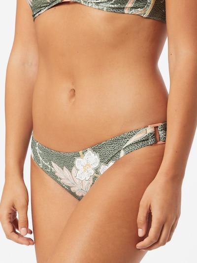 Seafolly Bas de bikini 'Ring Side Hipster' en olive / noir / blanc, Vue avec modèle