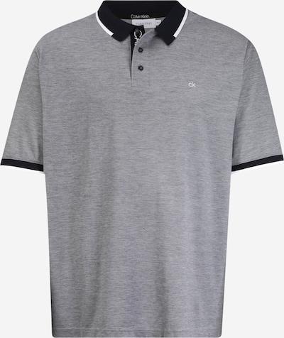 Calvin Klein Majica 'Oxford' u tamno plava / siva melange / bijela, Pregled proizvoda